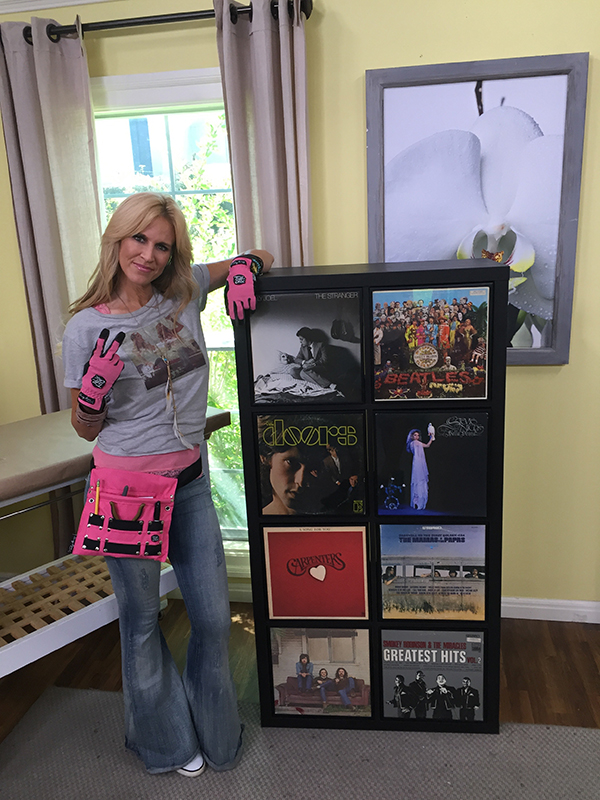 How to create stylish vinyl record storage paige hemmis for Record case ikea