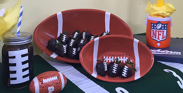 chocolate football feature