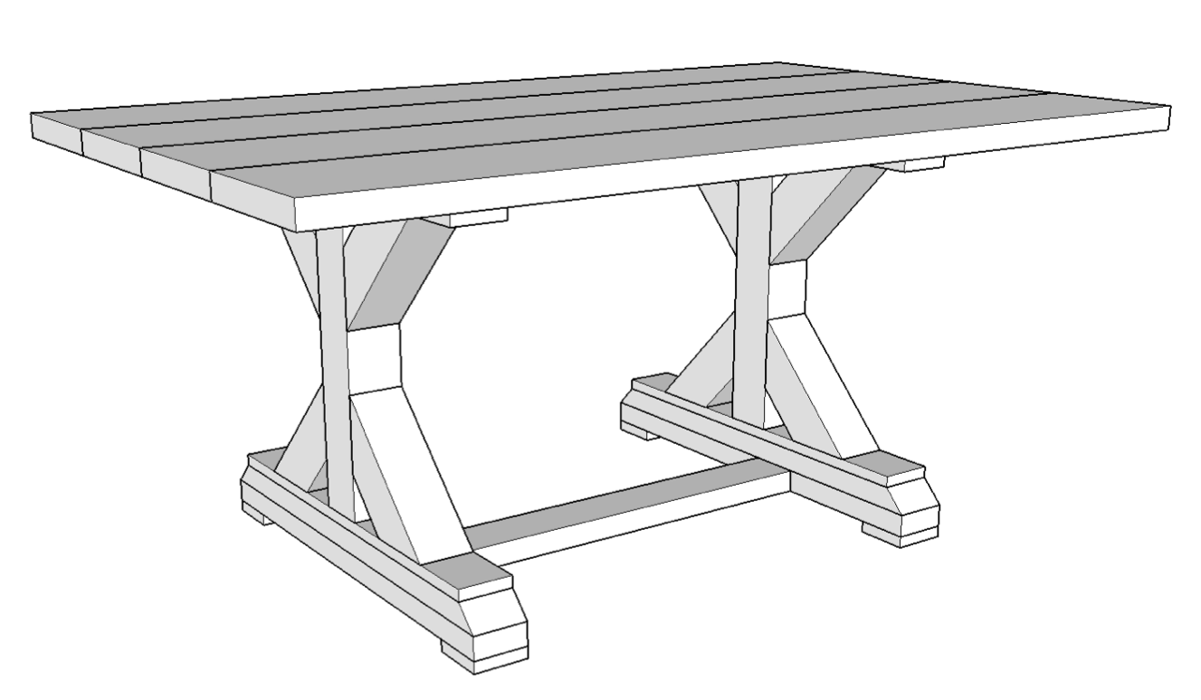 5' Wood Table