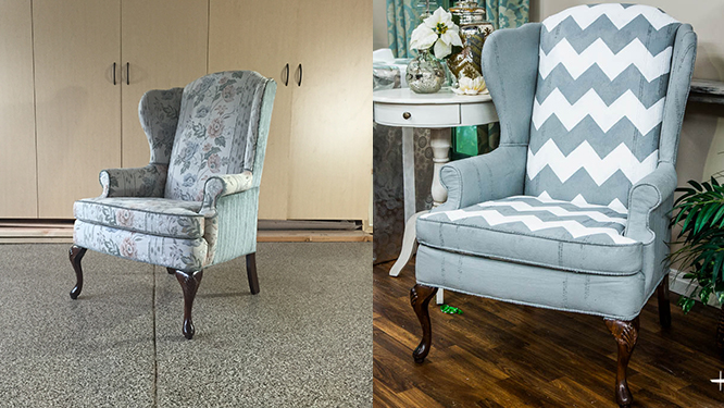 painted chair before and after