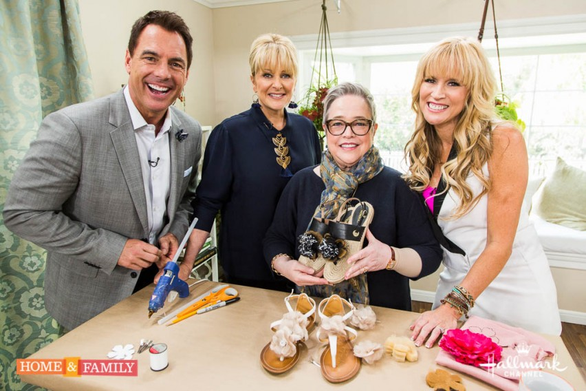 """Mark Steines and Cristina Ferrare welcome Academy Award-winning actress Kathy Bates. Actor Justin Hires talks about his new CBS show, """"Rush Hour."""" Chef Alex Thomopoulos cooks delicious sushi burritos. Dr. Christine Lee has important information about new guidelines for painkillers and the treatment of chronic pain. Ken Wingard shows you how to make a DIY Hobbit hole kids' playhouse. Learn how to make trendy DIY flower sandals with Paige Hemmis. Lawrence Zarian and Dan Kohler are teaming up to bring you the fashion and history of men's shoes. Kristin Smith leads a discussion about deceptive advertising on social media. Save money with Sandie Newton from Hollywood Steals. Credit:  Copyright 2016 Crown Media United States, LLC/Photographer:  steve lucero/Alexx Henry Studios, LLC"""