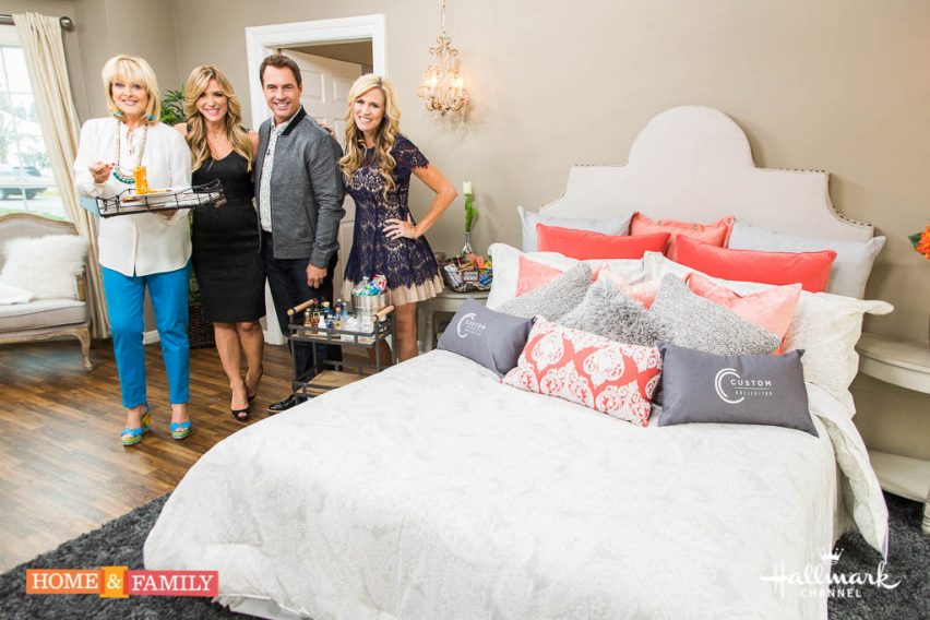 """Mark Steines and Cristina Ferrare welcome actor Miles Brown from Cirque Du Soleil's """"One Night for One Drop."""" Actress Katrina Bowden talks about her movie """"Hard Sell."""" Another finalist of our """"Home & Family"""" DIY Star contest, Shelley Foster, is making DIY festive wine bottles. Fabio Viviani is cooking linguine with snow pea tendrils, pancetta, and white asparagus. Debbie Matenopoulos is here with a summer movie preview for your family. Orly Shani shows you how to make trendy DIY stenciled jeans. Sophie Uliano is here with her favorite natural, green products from the Indie Beauty Expo. Create a DIY staycation in your own home with tips from Paige Hemmis. Save money with Sandie Newton from Hollywood Steals. Credit:  Copyright 2016 Crown Media United States, LLC/Photographer:  steve lucero/Alexx Henry Studios, LLC"""