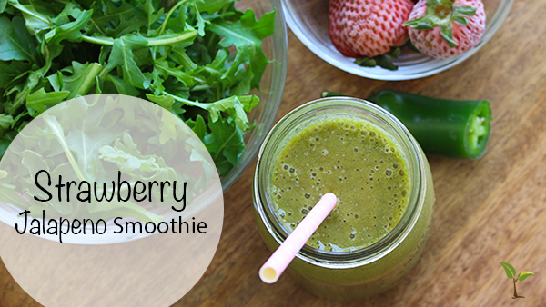 Spicy Jalapeno Strawberry Smoothie | Paige Hemmis