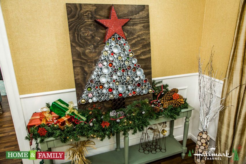 """Guest co-hosts Colin Ferguson and Kym Douglas welcome actors Emilie Ullerup and Kristoffer Polaha from Hallmark Movies & Mysteries' """"Hearts of Christmas."""" Actress Alison Sweeney bakes Santa's favorite mint cookies. Veterinarian Dr. Jeff Werber dispels myths about winter dog care. Colin shows you how to make a cardboard train. Kym Douglas has great gift ideas for people over 50. Ken Wingard creates a jolly DIY snowman that will not melt. Dr. JJ Levenstein cooks a delicious crown pork roast. Learn how to build a PVC pipe Christmas tree with Paige Hemmis. Save money with Hollywood Steals and Sandie Newton. Our viewers share the best gifts they have ever received.  Credit: © 2016 Crown Media United States, LLC 