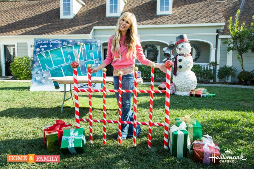 """Mark Steines and Debbie Matenopoulos welcome actress Morgan Fairchild from """"A Cinderella Christmas."""" Musical group Home Free treats us to a special performance. Cookbook author Gail Monaghan makes a delicious baked Alaska. Entertaining expert Fran Berger is here with holiday party etiquette. Paige Hemmis has a DIY giant candy cane picket fence. Kym Douglas shows you her favorite Christmas pajamas. Learn how to make a Christmas card holder with Ken Wingard. Dr. JJ Levenstein has tips to keep your children healthy and safe while flying. Kristin Smith is here with great interactive gifts for children. Our family answers viewer holiday questions. Credit: © 2016 Crown Media United States, LLC 