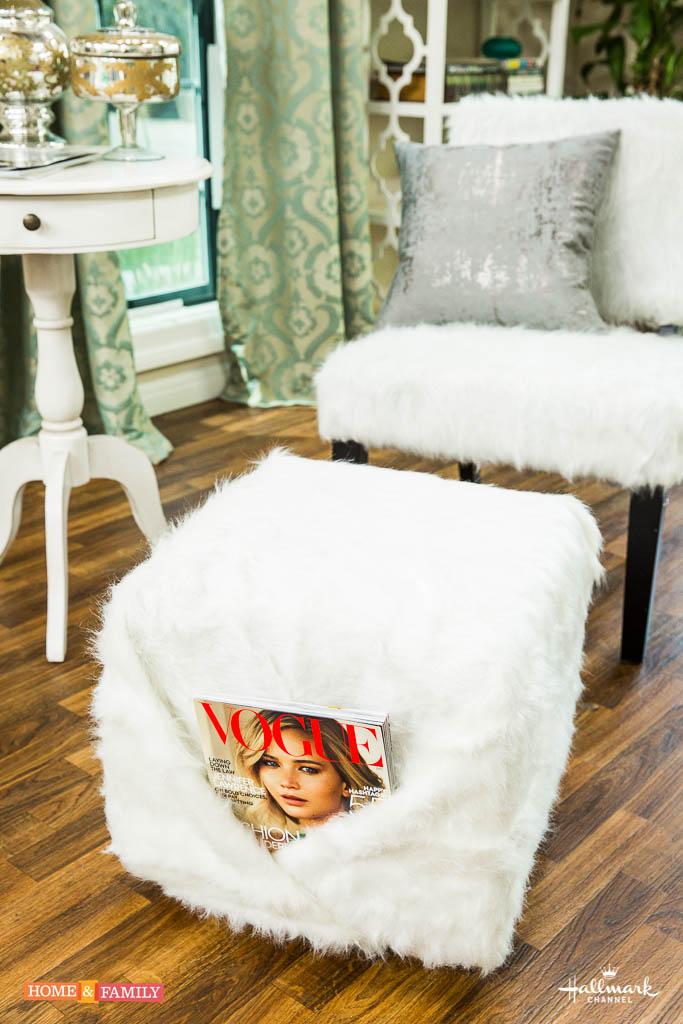 Diy Faux Fur Chair Amp Ottoman Paige Hemmis