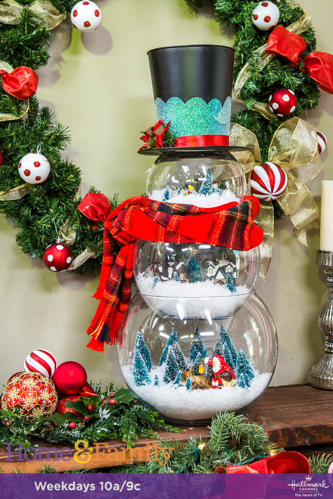 Home Family Crafts Fishbowl Snowman